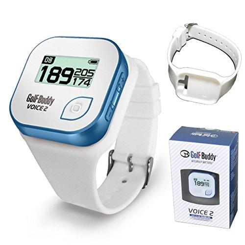 Golf Buddy Bundle Voice 2 GolfBuddy GPS Watch Easy-to-Use Talking GPS + Wristband