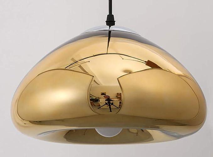 ZIXUANJIAXL Table à Manger Bar Lampe Placage Lustre en Verre Chapeau Européenne Champignon Lampe Home Salon Chambre Pain Lustre-A-30CM