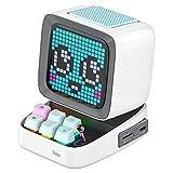 Divoom Ditoo Multifunctional Pixel Art LED Bluetooth Lautsprecher, 256 Programmierbares LED Panel mit Party Licht, Smart Digital Tischuhr, Gaming Musikbox unterstützt TF Karte & Radio (Weiß)