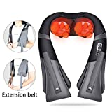 loverbeby Shiatsu Back and Neck Massager with Heat, Deep Tissue 3D Kneading Massager for for Muscles Pain Relief - Neck, Back, Shoulders, Legs - Office, Home & Car