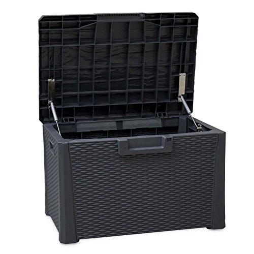 Toomáx Nevada Aufbewahrungsbox 120 Liter, strapazierfähig, wetterfest, vielseitig einsetzbar, kompakt, Rattan-Finish, verschließbar