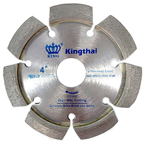 Kingthai 4 Inch Laser Welded Crack Chaser Tuck Point Diamond Blade for Concrete Mortar Removal