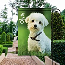 Custom Pet Photo Portrait Personalized Garden Flag Yard Flag House Flag Sign Banner Decor Memorial Personalize W/Your Dog Cat Name & Photo