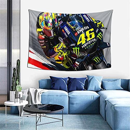 Valentino Rossi - Colcha para colgar en la pared, manta hippie, decoración bohemia, para yoga, meditación, 101,6 x 152,4 cm