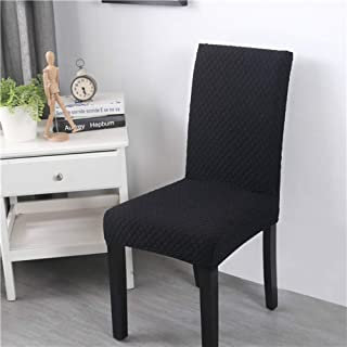 JIANXU Dining Chair Covers Super Chair Cover Seat Protector Soft Fabric Waterproof and Oil-Proof Stretch Chair Cover Elastic Spandex Seat Chair Cover for Dining Room/Kitchen (4,Black)