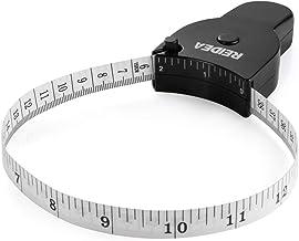 REIDEA Body Measure Tape 60inch (150cm) Lock Pin and Push-Button Retract Ergnomic and Portable Design Black