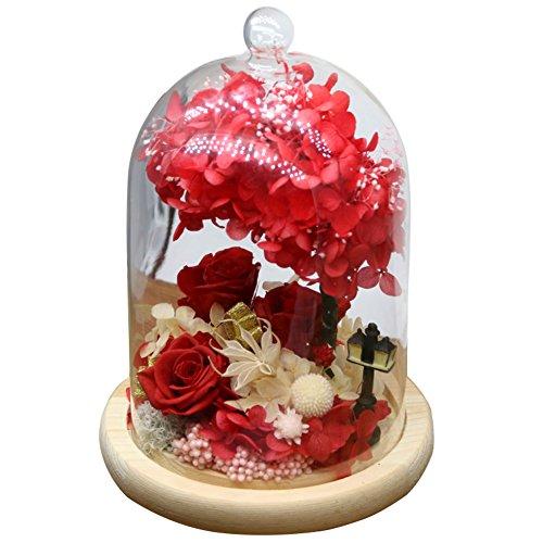 FLCP Artificial Flowers Fleur éternelle/roses/fleurs/valentine-11 * 21cm-A