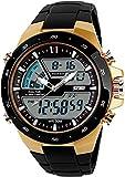 Carrie Hughes Men's Digital Watch 50M Waterproof Large Dual Dial...