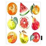 Seemuch Frutas Set de manta de acuarela de naturaleza tropical, comida de manzana, naranja, pera, sandía, cálida manta de franela de forro polar para dormitorio, sofá, coche, silla de 40 x 50 pulgadas