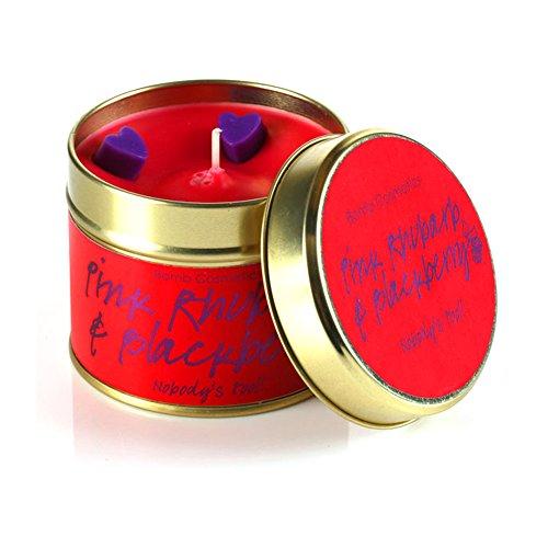 Bomb Cosmetics handgegossene Duftkerze PINK Rhubarb & BlackBerry