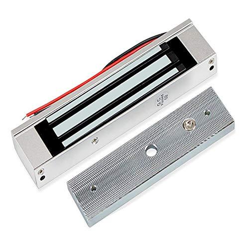 YAVIS 180kg Elektromagnetisches Schloss DC12V Magnetschloss Elektrisches 350lbs für Tür Access Control System Hostcontroller Tür Eintrag NC-Modus