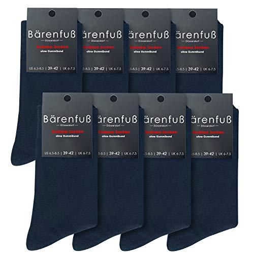 Bärenfuß Herren und Damen Premium Socken - 8 Paar ohne spürbare Naht oder Fusseln (Blau, 43-46)