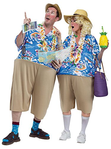 Unbekannt Fun World Unisex-Erwachsene Tacky Tourist Kostüme, Multi, Standard