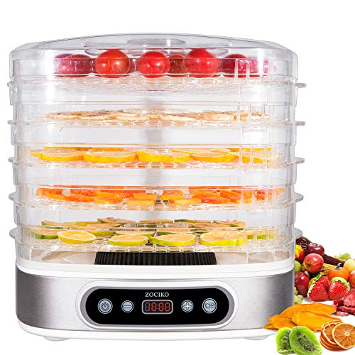 zociko Deshidratador Alimentos Deshidratadora de Frutas y Verduras 500W con...