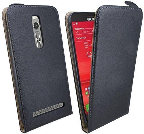 ENERGMiX Handytasche Flip Style kompatibel mit ASUS ZENFONE 2 Deluxe ZE551ML (5,5 Zoll) in Schwarz Klapptasche Tasche Schutz Hülle