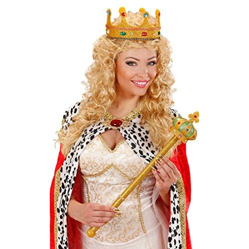 Amakando Bâton de Roi doré Sceptre Royale Conte de fées 57 cm Reine soirée à thème Accessoire déguisement théâtre