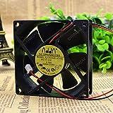 CYRMZAY Ventilador Compatible para ADDA AD0824US-A71GL 8CM 8025 80mm DC 24V 0.26A Fuente de alimentación de la Carcasa del Ordenador CPU Ventilador de refrigeración