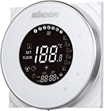 Termostato digital,Baugger- AC 95-250V 5A Pantalla táctil de ahorro de energía Pantalla LCD Controlador de temperatura de ...