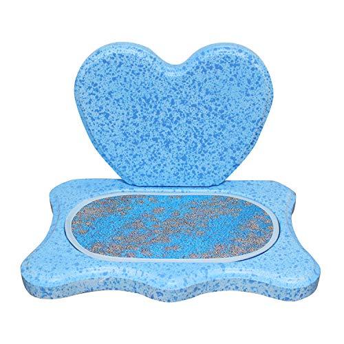 モダン仏壇 ミニ仏壇 ハート型 ステージ仏壇 ブルー 専用マットつき 仏壇のみ