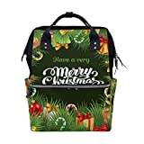 FHTDH Bebé Cambio de pañales Bolsos cambiadores Mochi Colorful Cartoon Sheep Pattern Diaper Bags Mummy Tote Bags Large Capacity Multi-Function Backpack for Travel