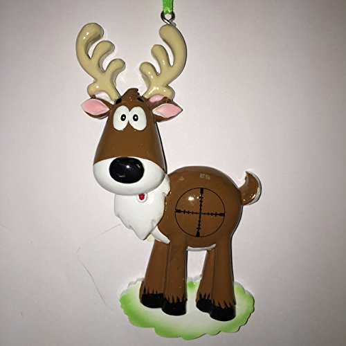 Deer in Crosshairs Personalized Christmas Tree Ornament