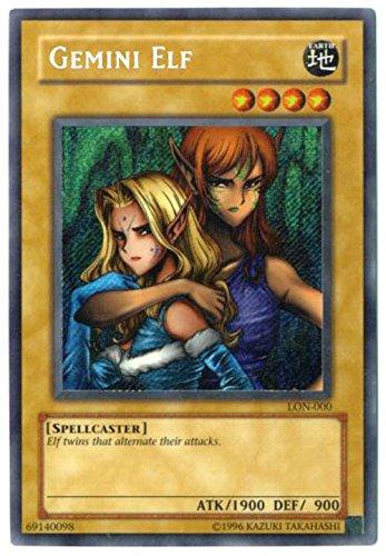 Yu-Gi-Oh! - Gemini Elf (LON-000) - Labyrinth of Nightmare - Unlimited Edition - Secret Rare