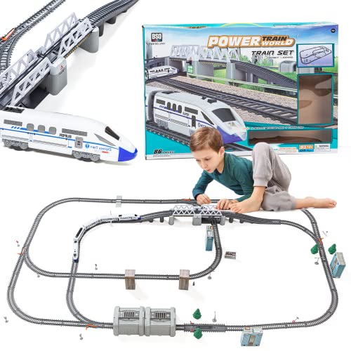 Electric Train Set for Kids for Holidays Around Christmas Tree with...