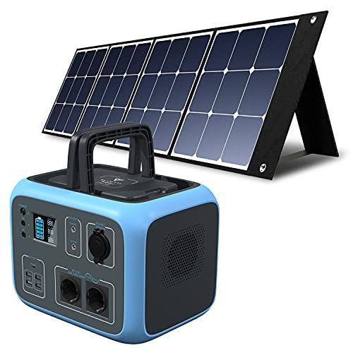 PowerOak Bluetti AC50S 500Wh Generador Solar Portátil con 1 Pieza Panel Solar 120W, Generador...