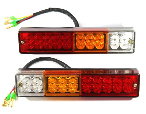 【DC12V用】LED テールランプ 左右 2個セット【本体サイズ】横235mm 縦50mm 厚さ30mm 汎用 多用途 【J-009】