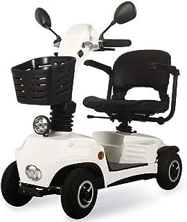 WPOSD Scooter Mobility   Vehículo De Movilidad   Moto Minusválidos   Moto para Personas Mayores  4 Ruedas   Barandilla Abrible   Freno  electromagnetico Asiento Giratorio
