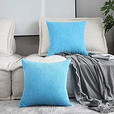 Home Brilliant Set of 2 Spring Decoration Decor Pillows Sofa Cushion Covers Accent Pillows for Couch, 16 x 16 inches, 40x40, Turquoise Teal