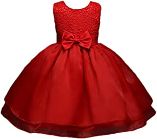 6a048e6fa Feicuan Baby Girls Formal Dresses, Wedding Party Princess Bowknot Dress  0-18M