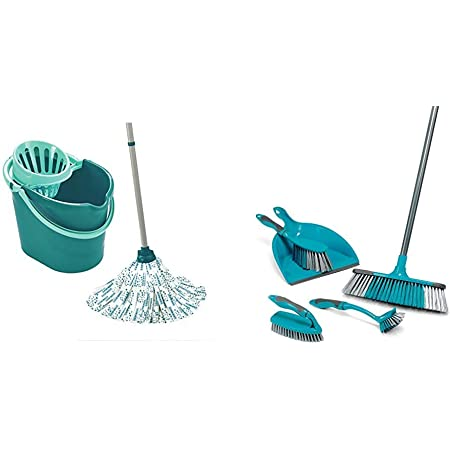Leifheit 520784 Classic Mop /& 12 L Bucket Set Green Colour Edition Limited New