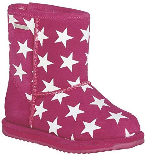 EMU Australia Starry Night Brumby Kids Wool Waterproof Boots Size 9 EMU Boots Deep Pink