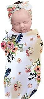 3-Pieces Set Newborn Receiving Swaddle Cocoon Sack Newborn Baby Boys Girls Sleep Blanket