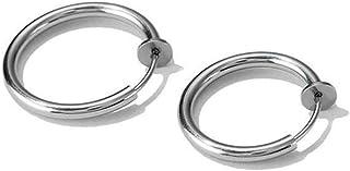 Fashional Hoop Earrings Clip on Body Nose Lip Ear Fake Retractable Earrings Septum for Women Girls