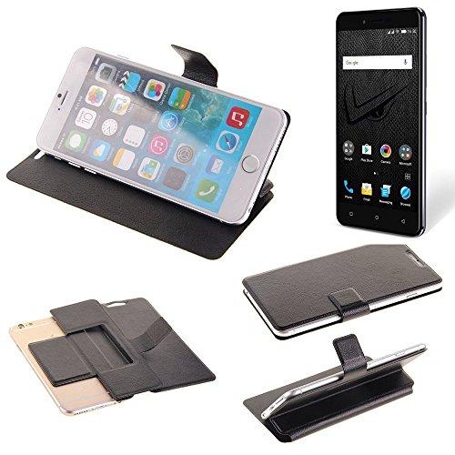 K-S-Trade® Handy Schutz Hülle Für Allview V2 Viper XE Flip Cover Handy Wallet Case Slim Bookstyle Schwarz