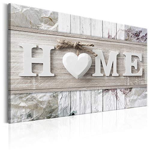 murando Cuadro en Lienzo 120x80 cm - Home - 1 Parte Impresión en Material Tejido no Tejido Impresión Artística Imagen Gráfica Decoracion de Pared m-C-0244-b-b