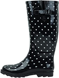 Cambridge Select Women's Pattern Print Colorful Waterproof Welly Rain Boots