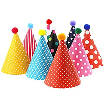 Vesil Kids Birthday Party Hats Assorted