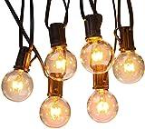 SHONCO Lichterkette Außen, 7.6 Meter IP44 Birnen Glühbirne Lichterkett mit Stecker, für Zimmer Markise Balkon Deko, Silber Warmweiss [Energieklasse A+++] (ohne Batterie)