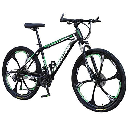 SHOBDW 26' 21-Speed Mountain Bike Adulto Studente Bicicletta Sportiva Ciclismo Strada Biciclette Strada Bicicletta Hardtail Regalo #3 verde. Taglia unica