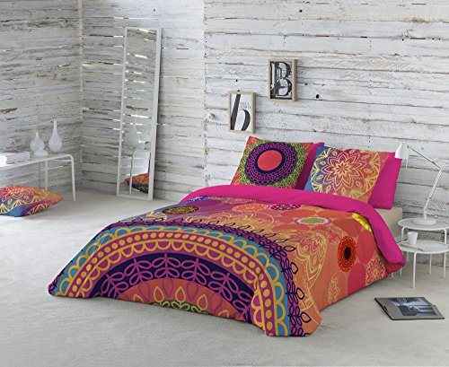 Naturals Funda nórdica Yasin, cama de 150 cm, multicolor