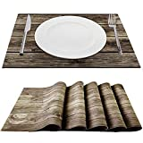 wooden appliance cover - Trivetrunner:Decorative Modular Trivet Runner for Table 6 pcs Placemats Extendable Hot Pad, for Heat-Resistant Surface,for Hot Plates, Pots, Dishes, Cookware for Kitchen (Wooden Rustic)