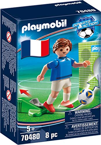 PLAYMOBIL-Sports & Action Jugador de Fútbol, Francia A, multicolor (70480)