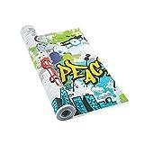 Graffiti Print Tablecloth Roll (100 feet Long) 90's Party Supplies