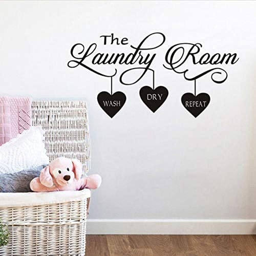 BUCKOO Laundry Room Decor Laundry Room Quote Wall Sticker Home Decor Popular Vinyl Removable product image