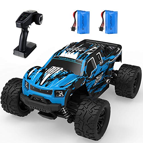 RC Off-Road Truck, EACHINE EC08 1/16 Scale Remote Control Car 40 Km/h 65 Mins Usage Time 4x4 4WD Off-Road Monster Truck Fast Waterproof High-Speed Dual Motor Trucks for Kids and Adults and Boys 8-12