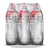 G Active, Agua con Electrolitos Sabor Fresa Kiwi, 1 litro (6 pack)