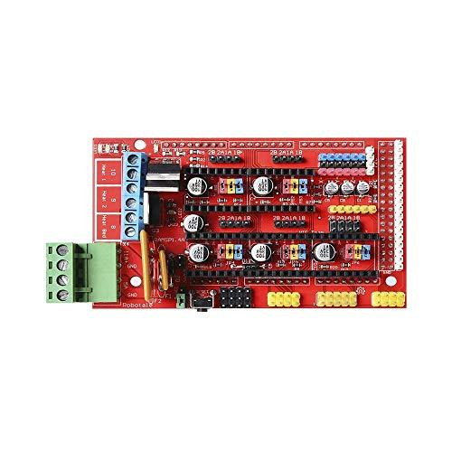 DJY-JY RAMPS 1.4 Panel de Control Parte Placa Madre 3D Impresora Partes Escudo Rojo Negro Controles Ramps1.4 Juntas Accesorios